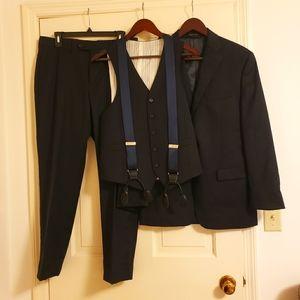 Lauren Ralph Lauren black 4 piece suit, L